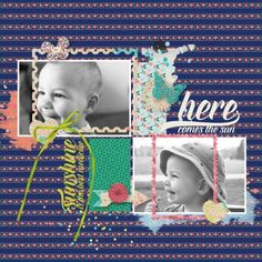 Digital Scrapbook layout using Spring Fever by Marisa Lerin, and template by Elif Sahin