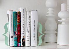 Bookends  Brackets mint green  laser cut by DesignAtelierArticle, €34.00