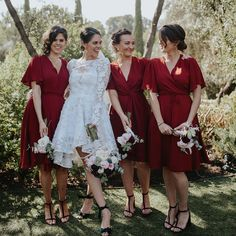 """3f93d55aea7e ... on Instagram  """"All the heart eyes 😍 for this picture of gorgeous bride   bebehbeck and her best girls at her Spanish wedding. Bebe s dress is by…"""""""