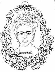 Resultado de imagem para imagens de desenho para pintar frida kahlo