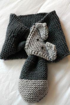 tuto echarpe renard Plus Arm Knitting, Knitting For Kids, Knitting Patterns, Tricot Baby, Baby Sweaters, Diy Crochet, Crochet Ideas, Crochet Projects, Knitted Hats