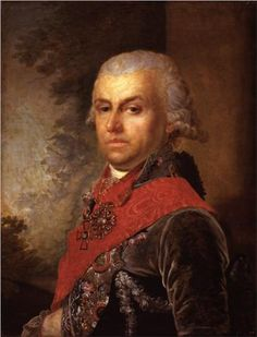 Portrait of D. P. Troschinsky - Vladimir Borovikovsky