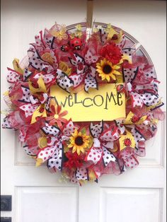 Summer or year round wreath...I kept this for me.