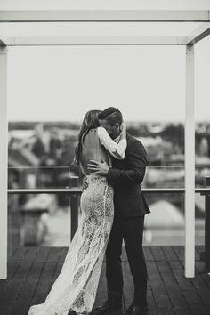 LANE Real Wedding / Cassie & David Melbourne Rooftop Romance / View Wedding on The LANE