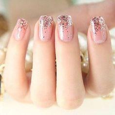 Glitter tip nails girly cute nails girl nail polish nail pretty girls pretty nails nail art nail ideas nail designs Love Nails, Pink Nails, Pretty Nails, Sparkly Nails, Gorgeous Nails, Gradient Nails, Ombre Nail, Amazing Nails, Pastel Nails