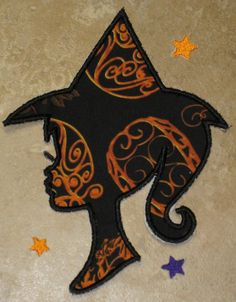 Sassy Classy Witch Silhouette Iron On
