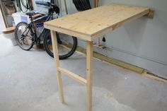 Fold-up Garage Work Table