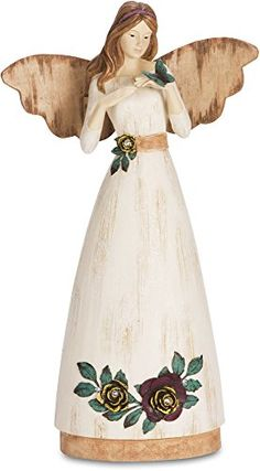 Pavilion Gift Company Simple Spirits 41004 Angel Figurine Holding Butterfly 9Inch Friend *** Want to know more, click on the image.