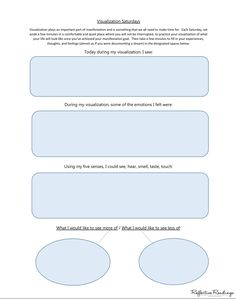 Click the Pin for Awesome Topics on Law Of Attraction Use this worksheet when you practice visualization. Make the law of attraction work for you. Join my 30 Day Manifestation Challenge for more tips, worksheets, advice, and support. www.facebook.com/...