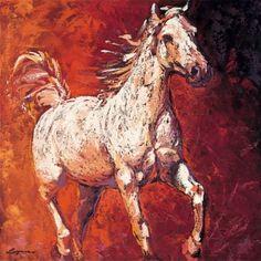 2 running horse clouds   Running Horse I - Lopez Art Prints - Easyart.com