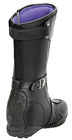 Joe Rocket Heartbreaker Women's Boots (Black, Size 8) | Best Motorbike Reviews