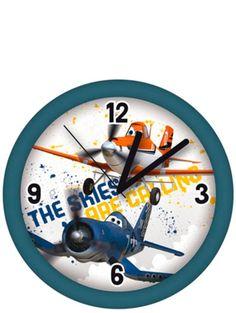 Lentsikat-seinäkello. Aika rientää kuin siivillä, kun taivaan tuulet kutsuvat Dustya ja Kipparia. Paristo ei sisälly pakettiin. (1 x AAA). Planes, Clock, Wall, Home Decor, Airplanes, Watch, Decoration Home, Room Decor, Clocks