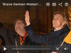 "'Brave German Woman' Rebukes Islam's Lie ------------------------------------------------------ But when the Muslim imam began his call to prayer during the concert, he was interrupted by a small woman in the balcony proclaiming that ""Jesus Christ alone is Lord of Germany,"" and shouting, ""I break this curse.""  She also invoked the name of Martin Luther and warned the audience that what was happening was ""a lie.""   The video went viral."