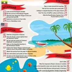 The Bucket List of Asia | Visual.ly