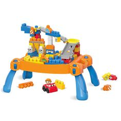 It's a big day at the jobsite when your little one gets to work with the Build 'n Go Table by Mega Bloks! A world of building adventures comes to life when you use this portable, folding playset to build a busy construction site, attaching the buildable tracks to send your Block Buddy zooming along in his friendly car! Stack directly onto the table to make towers, archways, a spinning crane, or anything else you dream up, exploring your imagination as you go! When the day is done, open up…