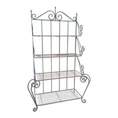 Image of Vintage Wrought Iron Baker's Rack