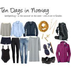 Norway Sweden travel capsule wardrobe backpacking summer