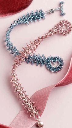 A Free Crystal Bracelet With Heart toggle.  #Seed #Bead #Tutorials