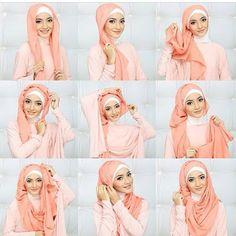 Cara Memakai Hijab Pashmina Pesta Terbaru