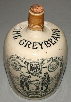 Original 1900's Greybeard Heather Dew Stoneware Advertising Whiskey Crock Jug   eBay