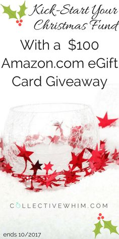 Get a head start on your Christmas savings this year with a $100 Amazon.com eGift Card giveaway. Enter daily to increase your odds of winning! Sweeps, Contest, Giveaway, Amazon, Holiday cash.