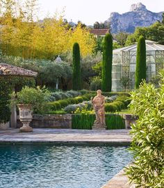 Yves St Laurent's private garden in Provence - photo by Clive Nichols