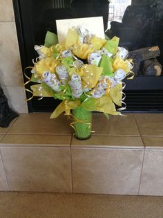 DIY baby flower diaper bouquet baby shower gift I made!