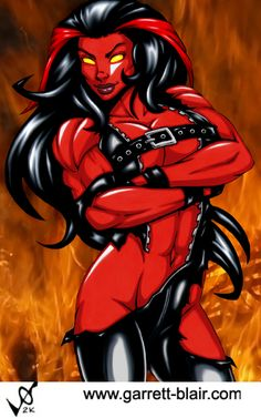 Red She Hulk by Garrett Blair by Mythical-Mommy on DeviantArt