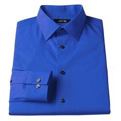 Apt. 9® Slim-Fit Stretch Spread-Collar Dress Shirt - Men