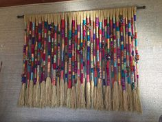Beautiful Hand Made – Wall Hanging Weaving Projects, Macrame Projects, Weaving Art, Tapestry Weaving, Loom Weaving, Home Crafts, Arts And Crafts, Macrame Wall Hanging Diy, Do It Yourself Baby
