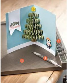 christmas tree pop up card 3