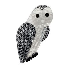 Limited edition, original Erstwilder Miah Masked Owl brooch in white. Designed by Louisa Camille Melbourne. $29.95