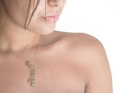 22k Gold plated silver Necklace Ruby and Sapphire Pendant