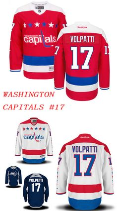 6e3430798 Washington capitals Aaron Volpatti official white reebok premier adult away  nhl hockey jersey.  Capitals 17  Jerseys  CapitalsRed  jerseys It is hard  to ...