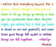 Marilyn Monroe was on to something.