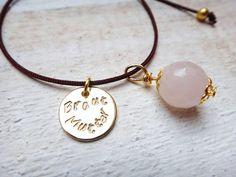 Brautschmuck - Armband ❤ Braut Mutter ❤ mit Gravur Gold - ein Designerstück von Edelschnitte bei DaWanda