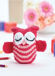 Olive the Knit Owl free pattern download - free registration to access pattern