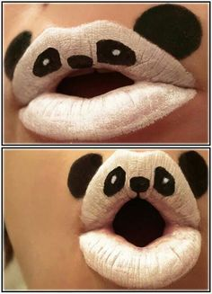 Lip Art is the next big thing and the Animal-ipstick series showcases creativity and talent. fancy a panda on your lips? This series of styled lips Makeup Art, Lip Makeup, Fairy Makeup, Mermaid Makeup, Human Mouth, Lipsense Lip Colors, Lipstick Art, White Lipstick, Nice Lips