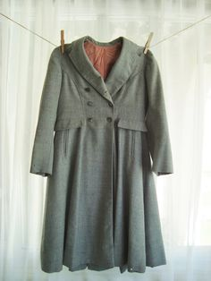 Hey, I found this really awesome Etsy listing at https://www.etsy.com/listing/161587505/pretty-little-girls-grey-wool-dress-coat