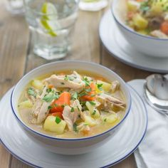 Chicken and Vegetable soup - A delicious and healthy soup made using the leftover chicken from your roast dinner.