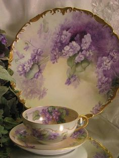 lilac  dishes