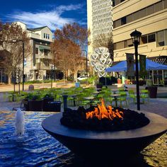 NOMA Square (short for NOrth MAin) is the largest plaza in downtown & a lively host for free community events! Photo by ccollns // yeahTHATgreenville