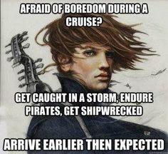 Afraid of boredoom during a cruise?...
