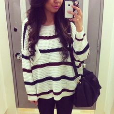 i want a big sweater like this!