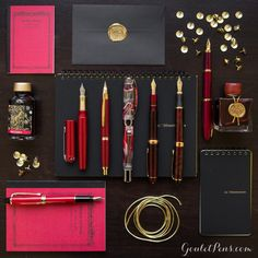 Goulet Pens Blog: Thursday Things: Lucky Red