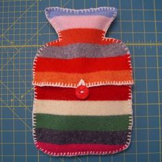 Hot Water bottle cover made from an old sweater