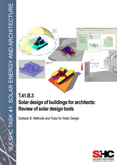 Solar design of buildings for architects review of solar design tools