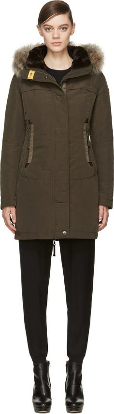 Parajumpers - Olive Green Hooded Selma Coat