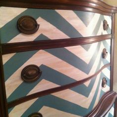 Love the chevron and wood mix Chevron Furniture, Kids Furniture, Chevron Dresser, Furniture Design, Refurbished Furniture, Repurposed Furniture, Vintage Furniture, Painted Furniture, Diy Dresser Makeover
