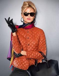 ❤ ☮ ✌︎ ♕ ☻☺ ✤ ☂ ↜ ➳ ☯ ♁ ♥ ॐ ღ ☀️ ✿ڿڰۣ(̆̃̃ ≫ * ❃✿ ✿⊱╮❇Ƹ̵̡Ӝ̵̨̄Ʒ❀ I K⧢ Steppjacke mit Rüschen in den Farben curry, terra, schwarz, mocca - Größen im Madeleine Mode Onlineshop Look Fashion, Winter Fashion, Womens Fashion, Fashion Trends, Summer Work Wear, Madeleine Fashion, Elegantes Outfit, Mode Chic, Looks Chic